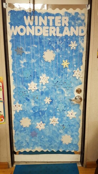 Winter Wonderland Part 2 Preschool Door Theme Snowflakes
