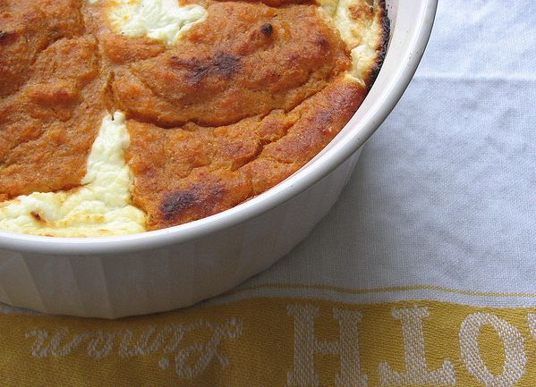 sweet potato goat cheese spoon bread. i puree everything but the goat ...