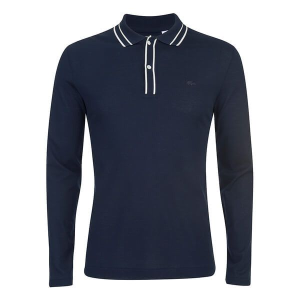 Lacoste Men's Long Sleeve Ribbed Collar Polo Shirt (10580 RSD) ❤ liked on Polyvore featuring men's fashion, men's clothing, men's shirts, men's polos, blue, mens slim fit shirts, mens blue shirt, mens slim fit polo shirts, mens long sleeve shirts and mens long sleeve polo shirts