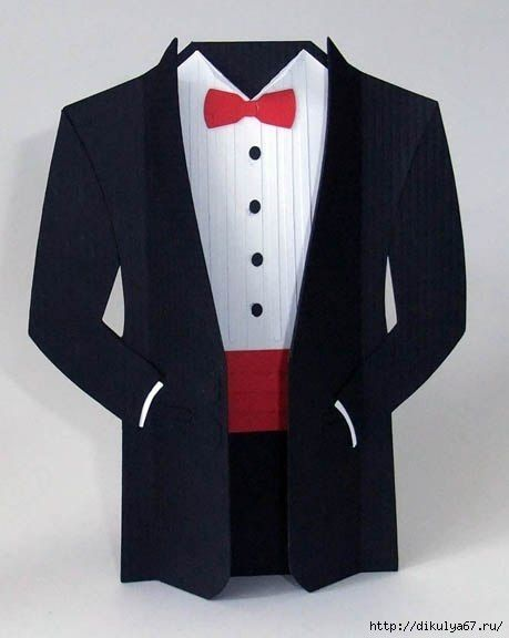 Открытка костюм своими руками мужчине