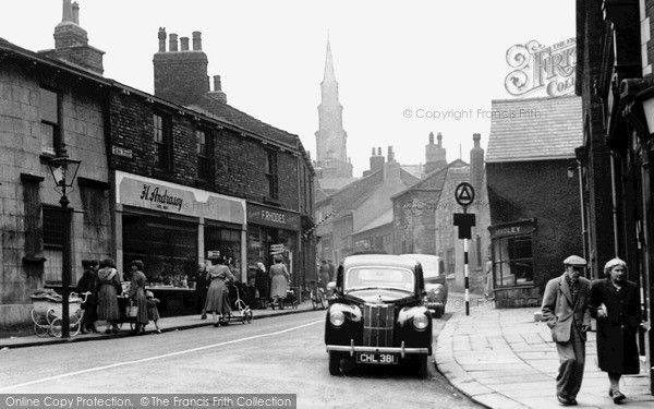 Horbury, Queen Street c.1955, from Francis Frith