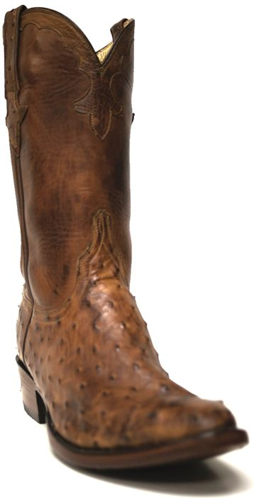 New to STT -- Lucchese Men's Barnwood Pin Burn Ranch Boots | These 1883 by Lucchese® men's boots are handsome! The pin burned full-quill ostrich leather has a beautiful color, making these boots elegant yet casual. | SouthTexasTack.com