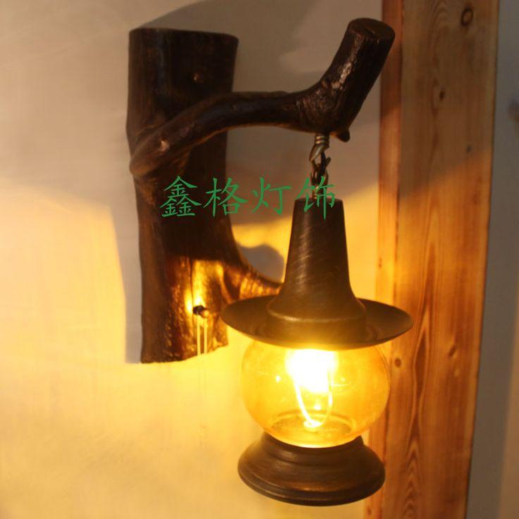 китайском стиле винтаж смола бра проход света для спальни лампы вход света балкон лампы в американском стиле