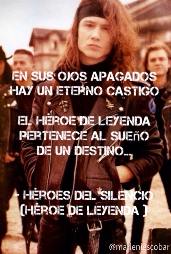 Héroe de Leyenda - Héroes Del Silencio @marleniescobar