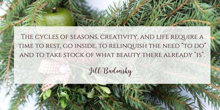 Quote Jill Badonsky - Hibernation - Dala Muses