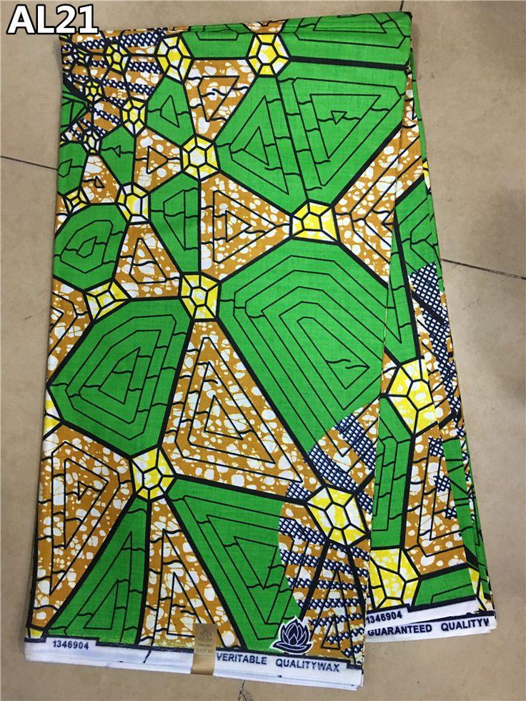 High class hot sale green african wax fabric!new pattern 6yards african ankara real wax prints fabrics for nigerian wedding AL21 #Affiliate