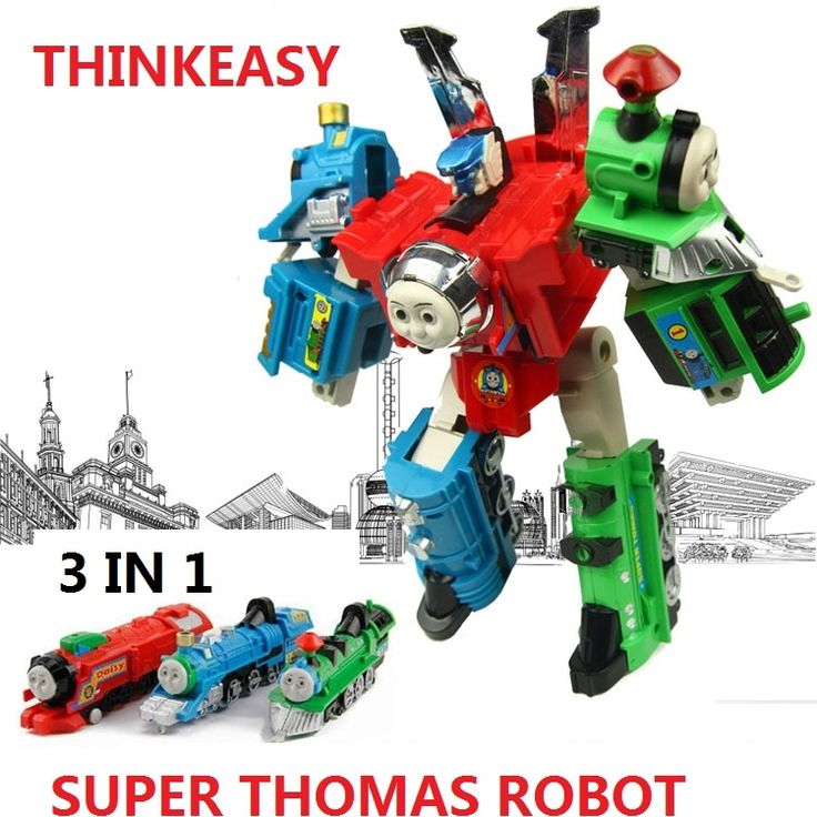 17.47$  Buy now - http://alik5h.shopchina.info/1/go.php?t=32804748775 - 3 IN 1 Super transformation thomas and friends figure toys with package Children puzzle Figures for Birthday Gift Kids Toy set  #buymethat