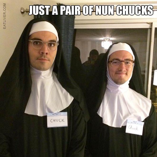 Just a Pair of Nun #Chucks - actually its #nunchaku