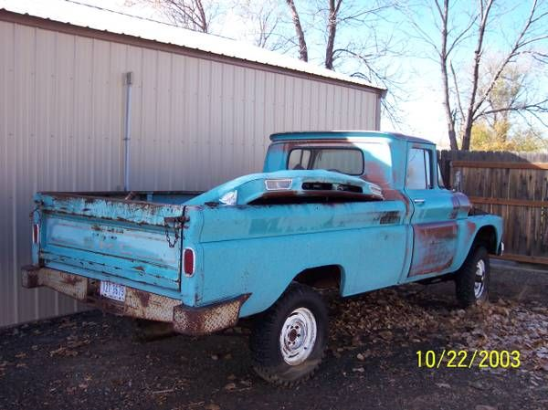 1963 gmc truck (billings west) $700: < image 1 of 7 > 1963 gmc VIN: missingcondition: faircylinders: otherdrive: 4wdfuel: gasodometer:…