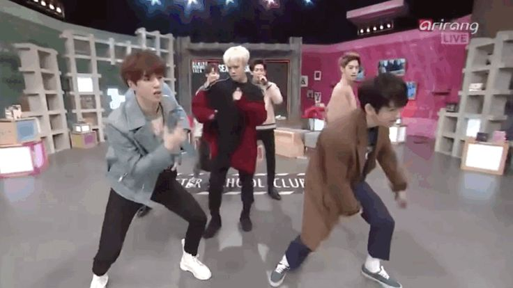 "You still haven't fangirled? OK, TIME TO GET DOWN TO BUSINESS. Here they are doing the ""Just Right Sexy Version"" on After School Club. 