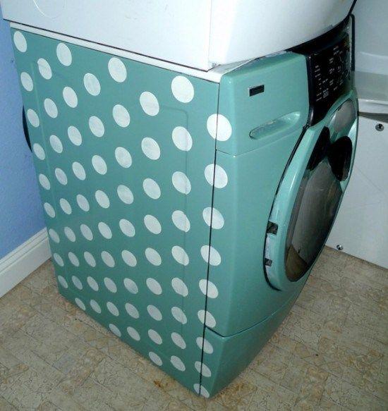 Peindre sa machine à laver  Comment relooker sa machine à laver : 3 idées géniales !   http://www.homelisty.com/comment-relooker-sa-machine-a-laver-3-idees-geniales/