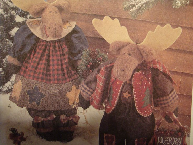 Reindeer sewing Pattern/ McCall's Crafts 9069/ 16''' or 17'' reindeer dolls, 8'' tree, home decoration, winter, christmas, moose by RedWickerBasket on Etsy