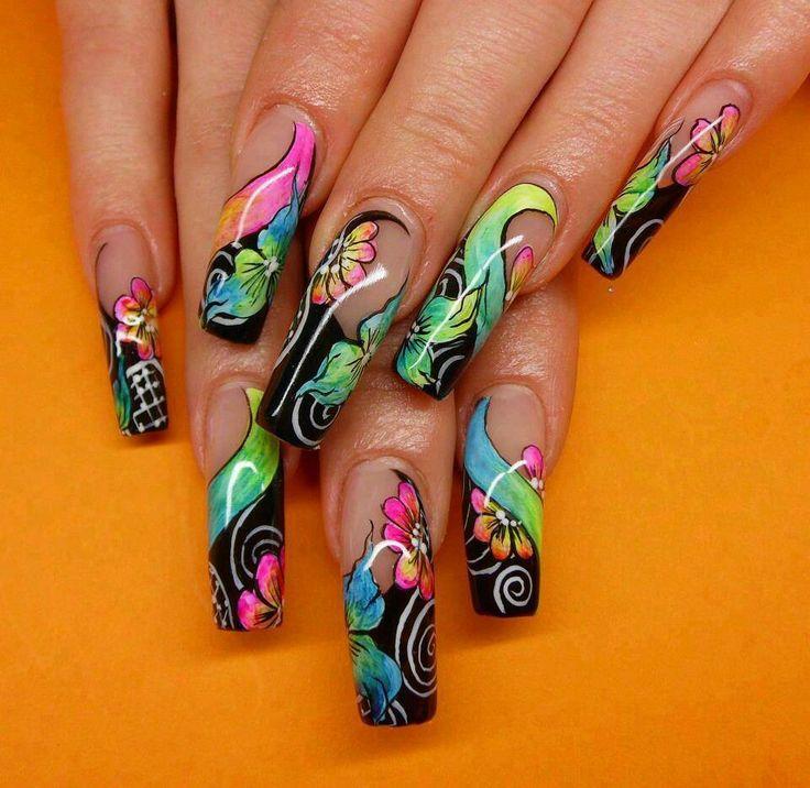 Akril paint color nails