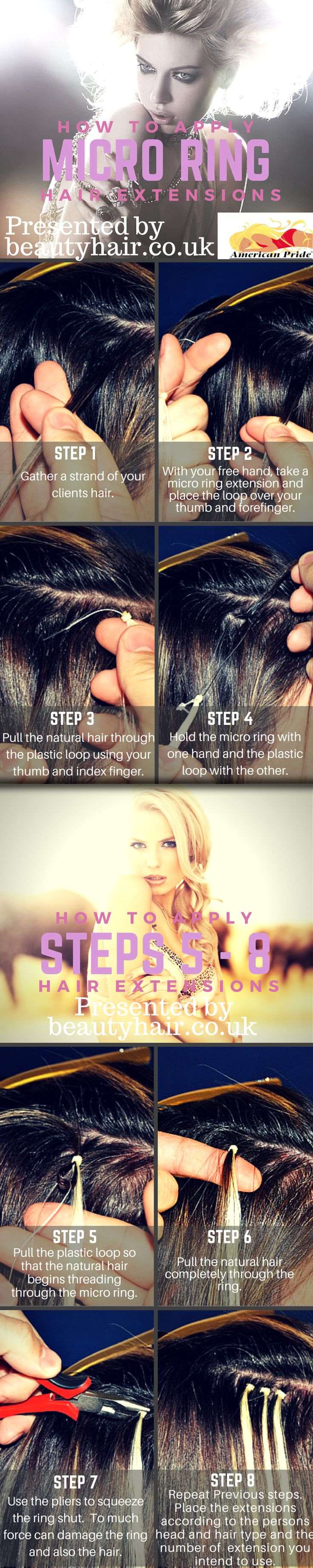 How To Apply Micro Ring Hair Extensions