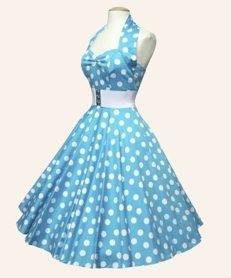 50s Halterneck Polka dot Dress from Vivien of Holloway