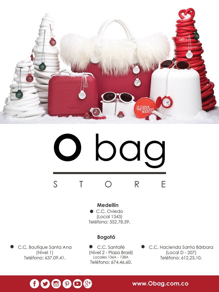 "Comenzamos nuestra navidad ""O bag""... www.Obag.com.co"