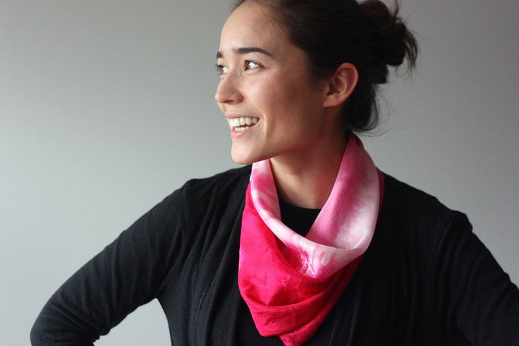 Dyed scarf For the Makers: Carmine Folded Scarf