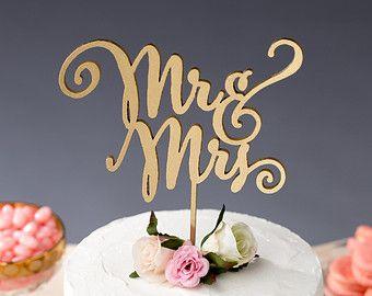 Hochzeitstorte Topper Herr und Frau Cake Topper von BetterOffWed