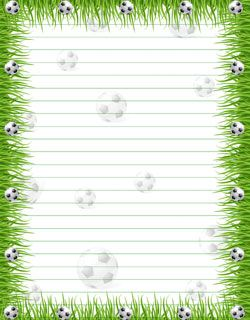 Free Printable Stationery Paper: Soccer from PrintableTreats.com