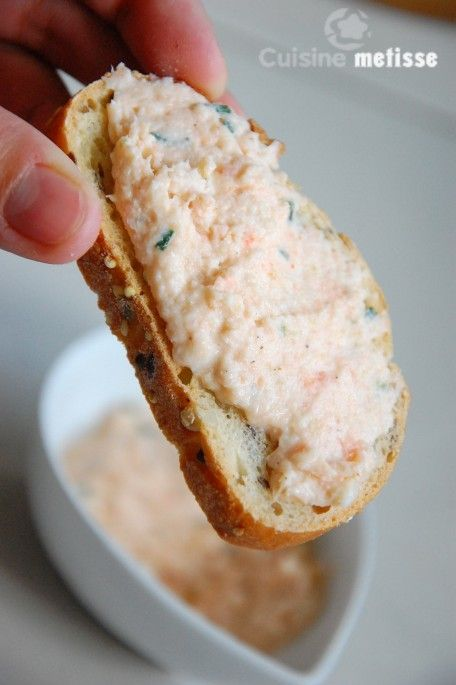 Rillettes de saumon et crevettes   Cuisine Metisse