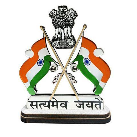 Car Dashboard Idol Indian National Flag #india #republicday #cardashholder