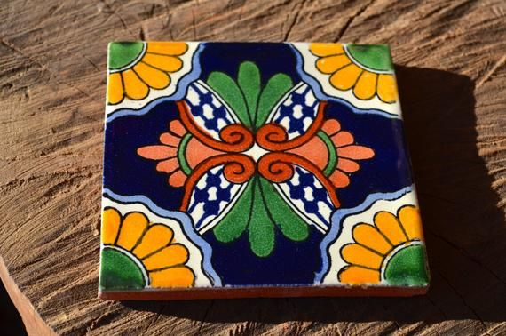 12 Mexican Talavera Tiles Handmade Hand Painted 4 X 4 In 2020 Painted Jewelry Boxes Painted Wooden Boxes Painting