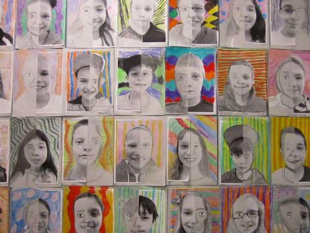 Art project split faces (May 2012 Blog)
