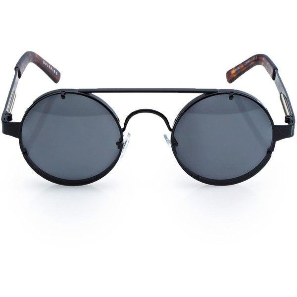 Spitfire Lennon Sunglasses ($23) ❤ liked on Polyvore featuring accessories, eyewear, sunglasses, rounded glasses, round metal frame sunglasses, round lens glasses, lens glasses and spitfire sunglasses