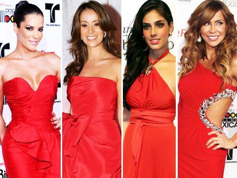 Accesorios para un vestido rojo de noche