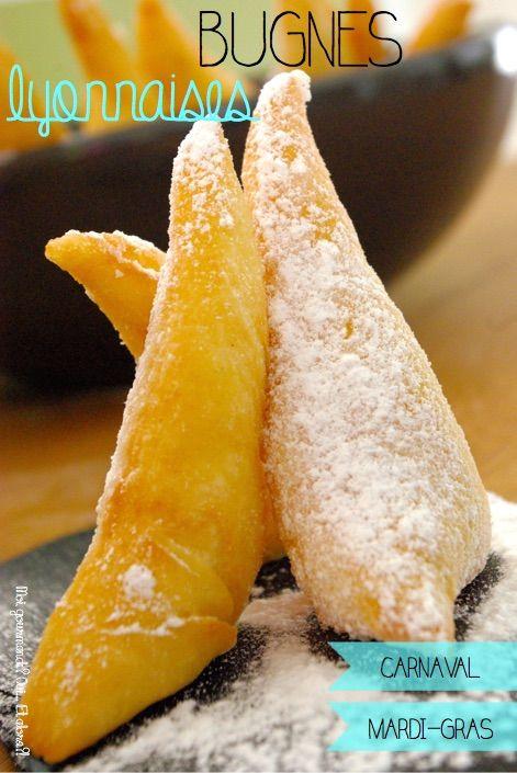 Aujourd'hui, c'est Mardi Gras!! Et chez nous, à Lyon, nous ne faisons pas de crêpes, mais des Bugnes… Elles font partie de la famille des beignets et sont particulièrement délicieuses lorsqu'…