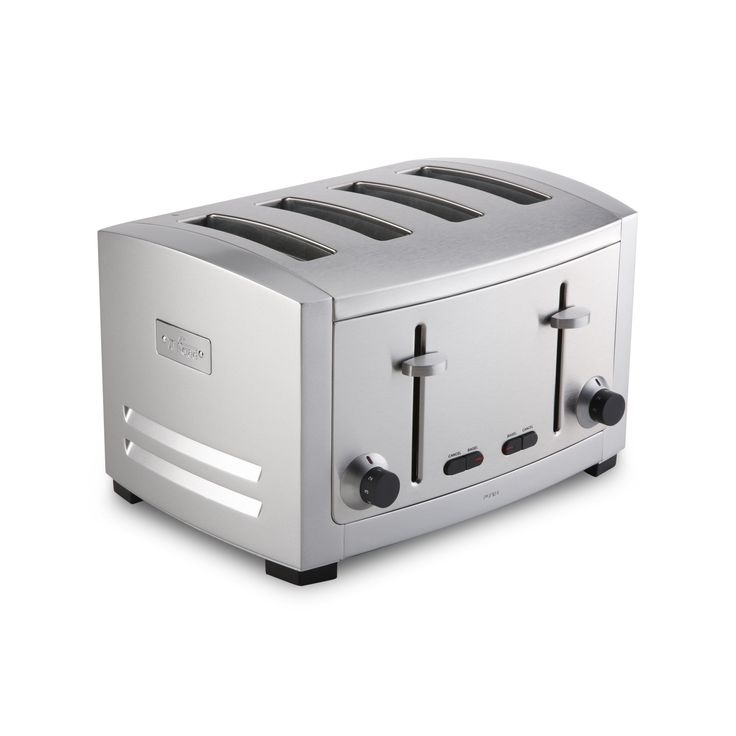 All-Clad TJ804D Stainless Steel 4-Slot Toaster with 6 Browning Control Settings and Frozen and Bagel Functions, 4-Slice, Silver
