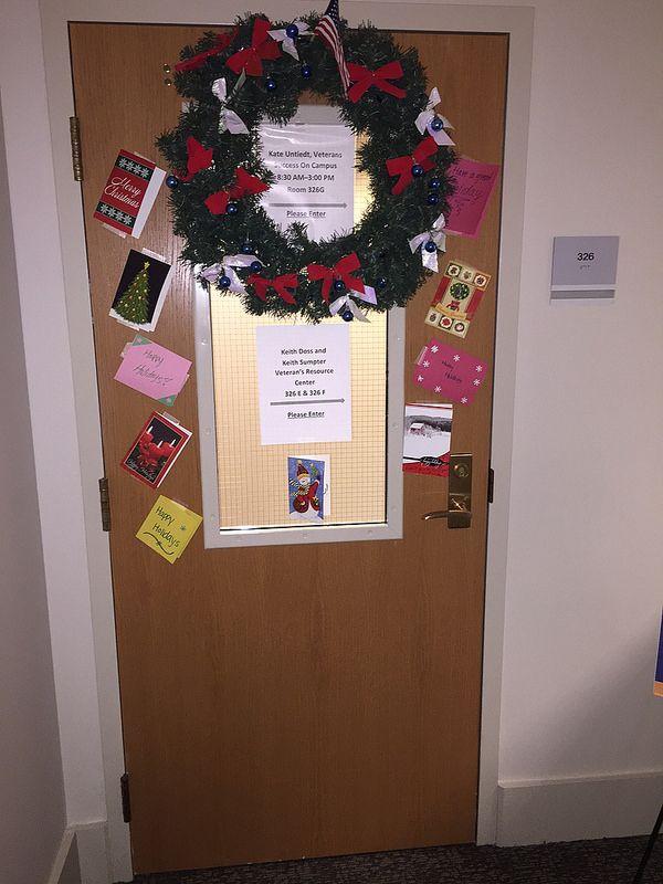 2014 UC Door Number 8 The Veteran\u0027s Resource Center\u0027s door was appropriately red white and & 16 best UC Holiday Doors images on Pinterest | Door numbers Fiesta ...