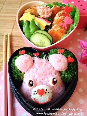Little Miss Bento  シャリーのかわいいキャラベン: ケアベアのキャラ弁 Care Bear Bento