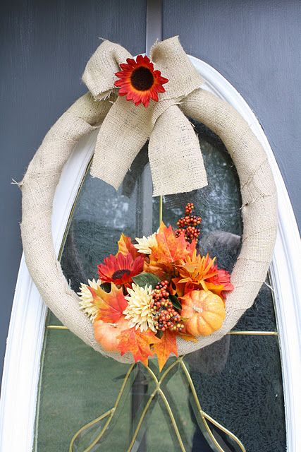 Simple Burlap wreath....Sometimes simple is way better.