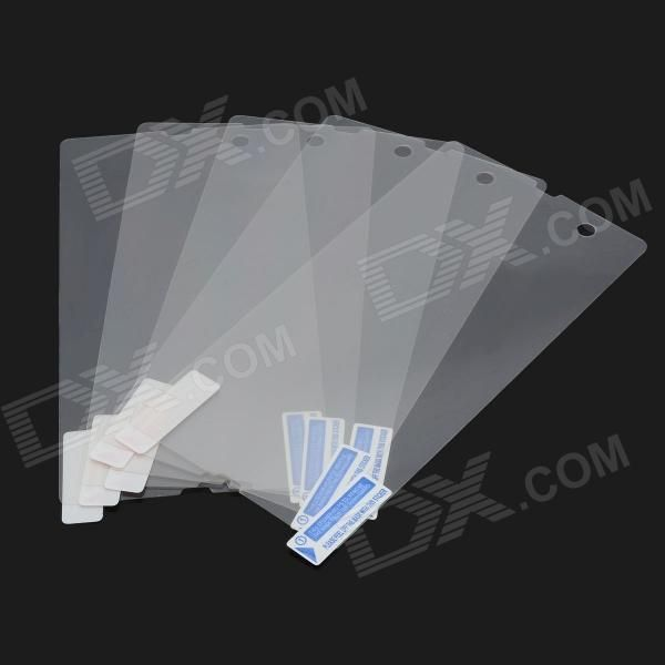 Clear Screen Protector Film Guard for Sony Xperia Z L36h - Transparent (5 PCS)