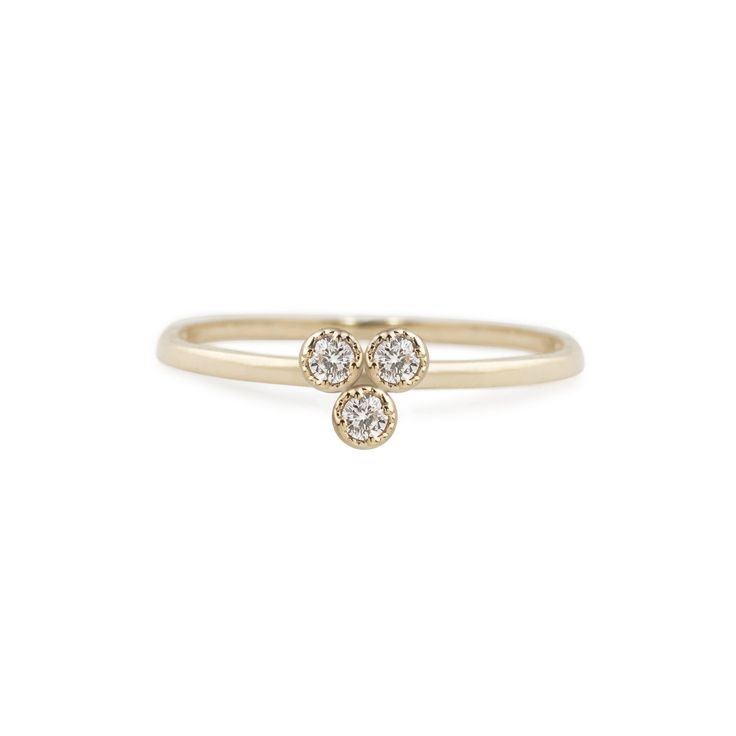 Dahlia Trio Diamond Ring – Envero Jewelry