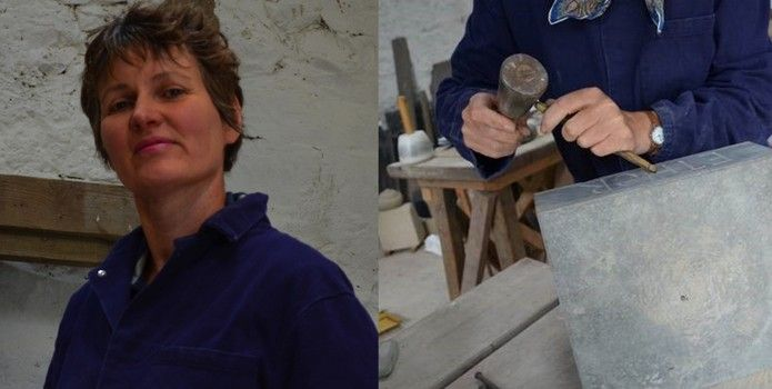 Natasha Smith Stone Carving - Meet Your Maker at the Borders Textile Towerhouse