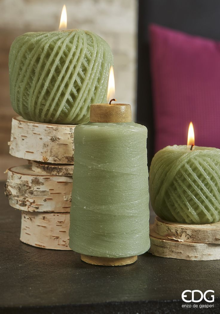 Needlework Design - Green Candles | EDG Enzo De Gasperi Autumn Collection 2014