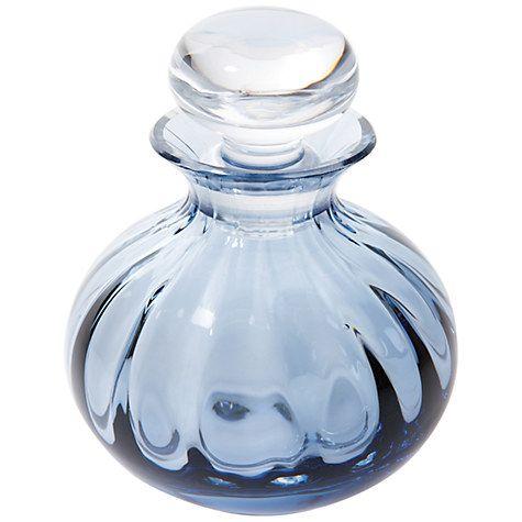 Buy Dartington Crystal Bijou Perfume Bottle, Ink Blue Online at johnlewis.com