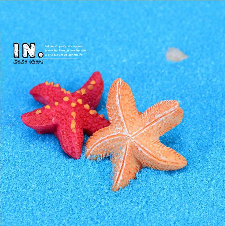 Micro beach landscape fairy garden decorative Mediterranean resin figurine mini Starfish Figure Toys terrariums DIY accessories