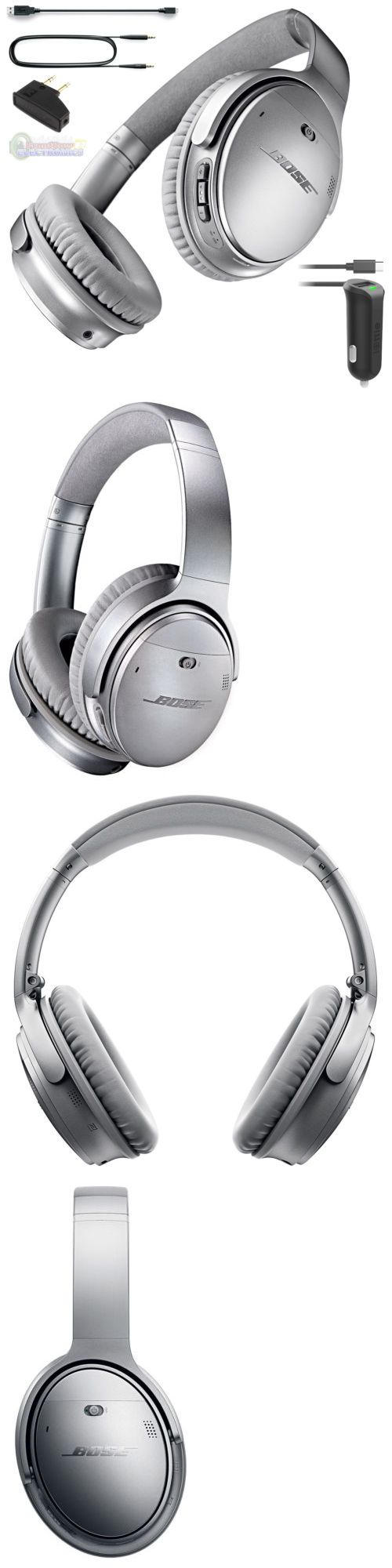 Headsets and Earpieces: Bose Quietcomfort Qc 35 Wireless Noise Cancelling Headphones Silver And Car Charge -> BUY IT NOW ONLY: $358.95 on eBay!