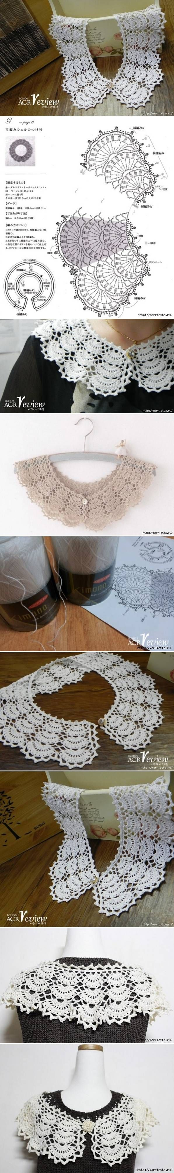 DIY Open Work Crochet Collar