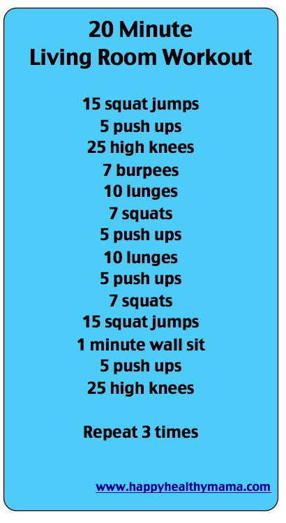 Living room workout.
