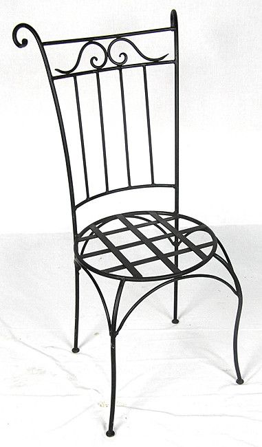 Wrought Iron Wing Back Chair