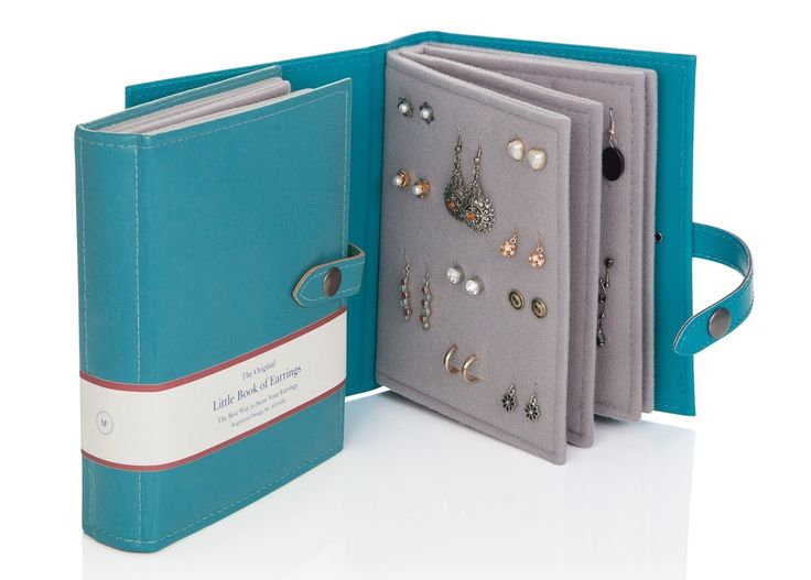 Amazon.com - Large Size - Little Book of Earrings - A Small Book for Keeping Your Earrings Safe! (Teal) -