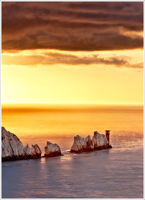 The Needles on the Isle of Wight would provide for a nice romantic decor for our honeymoon sunsets...
