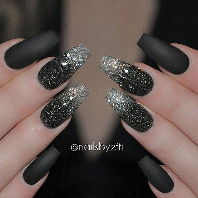 Best 25+ Black acrylic nails ideas on Pinterest