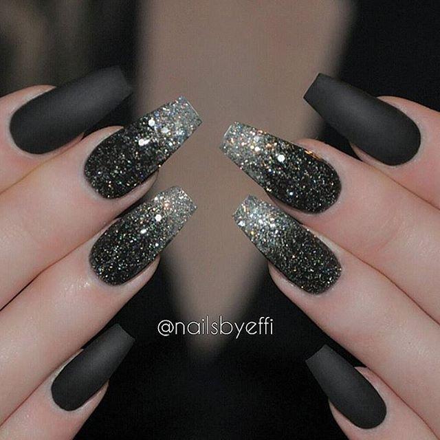 Best 25+ Black acrylic nails ideas on Pinterest
