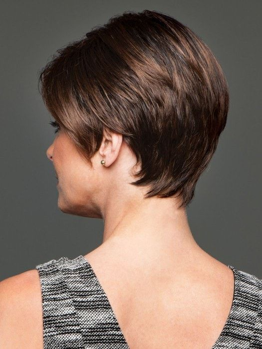 Image result for bob tucked behind ears   Monofilament wigs, Short wedge hairstyles, Short bob ...