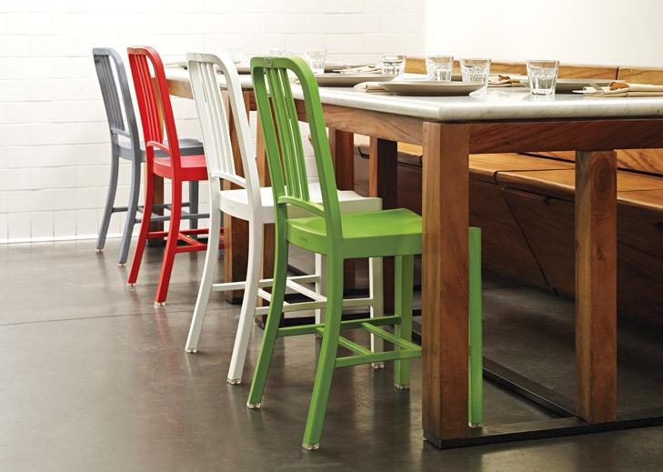 Emeco 111 Navy Chairs   Love The Wood Bench Seating U0026 Storage Too